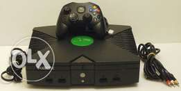 "original xbox ""first xbox ""pal + 1 controller + cables"
