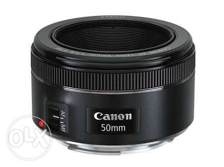 lens canon 50mm (f 1.8) new not used final price 150$