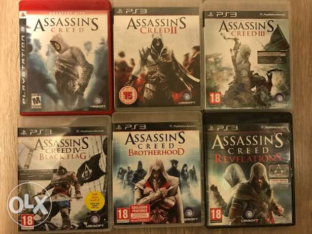 6 Assassin Creed series PS3 games