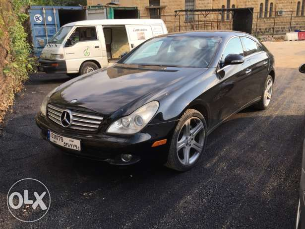 cls 500 Black with black leather wood interior