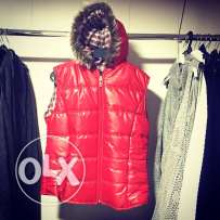 red gilet now on sale