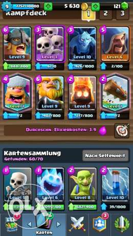 Cash royal Account with 3 legendary card