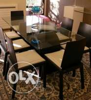 Luxurious DINING TABLE with 8 Chairs