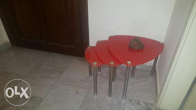 Three Small cafe tables ضهر الصوان -  2