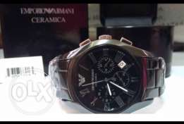 Stunning black Ceramica watch for men (valentine gift for him)