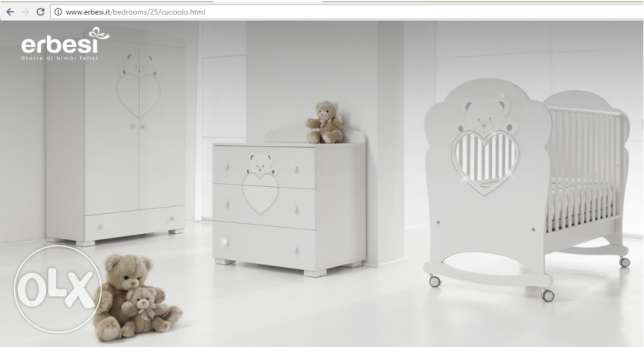 New Baby born Full Bed And Commod made in Italy ( erbesi ) ضبيه -  1