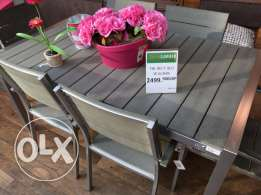 BHV Resin Table + 2 Chairs, Outdoor or indoor use