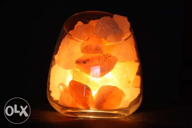 Lighting from Himalayan Rocks in Glass Vase!
