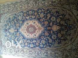Iranian Nain wool and silk carpet