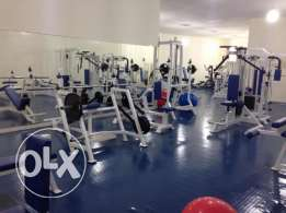 Fully equipped gym for sale