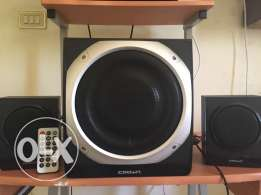 crown sub and 2speakers