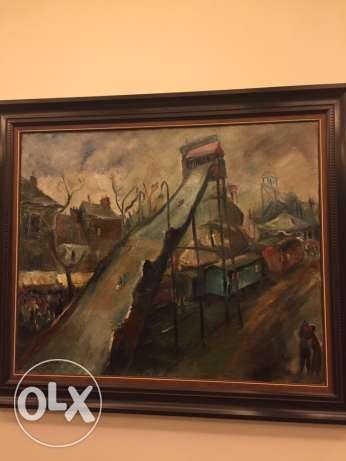 original oil painting by famous artist georges Cyr جبيل -  2