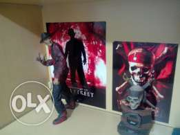 Action figures High quality freddy krueger 18inch and clock pirates of