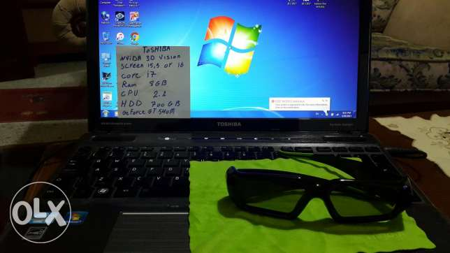 3D laptop for sale with 3D glasses