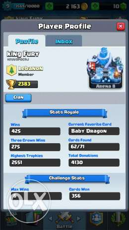 2 Clash royale account for sale