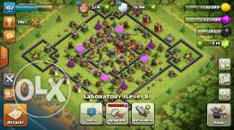 Clash for sale 100$ 2000+ gems townhall level 10