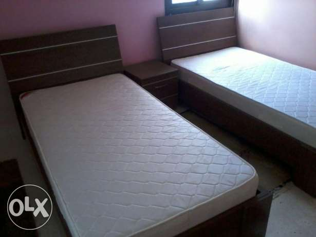 Bed Room Like New, used 6 months, 2 single Beds and Closet, 900$