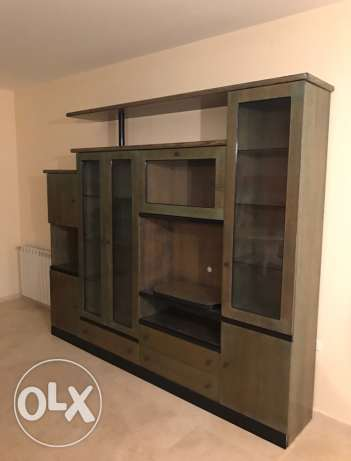salon living room cupboard/bibliotheq with pure wood