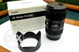 Sigma lens for canon 18-35 mm f1.8 Art
