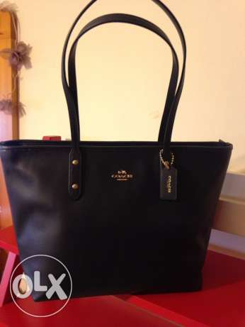 Authentic coach leather bag عاليه -  1