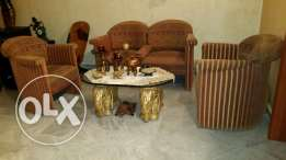Sitting room amazing very good guality +tow elephant glass tablr