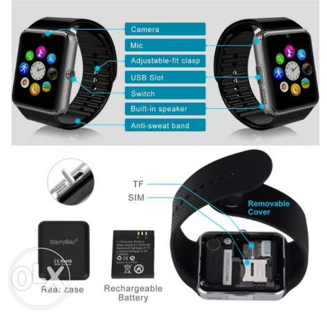 Smart Watch Clock Sync Notifier Support Sim Card Bluetooth Connec