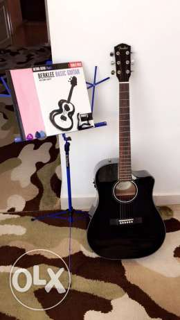 Fender Acoustics Guitar with Accessories and Books