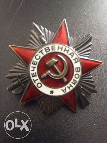 soviet order of the great patriotic war first class silver and enamel.