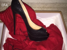 Black Lady Peep Louboutin as good as new for sale