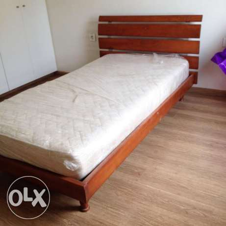 Single Bed 110 cm + Mattress