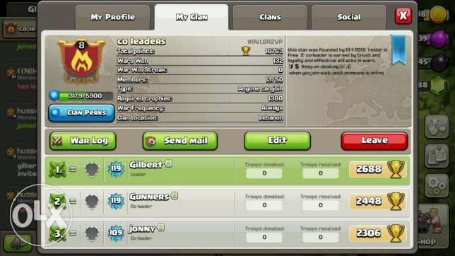 Clash of clans clan lvl 8 for sale
