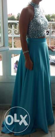 Blue dress used one time only Maten