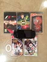 Sony PSP with 5 games