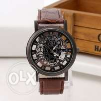 Skeleton Watch ( Brown )