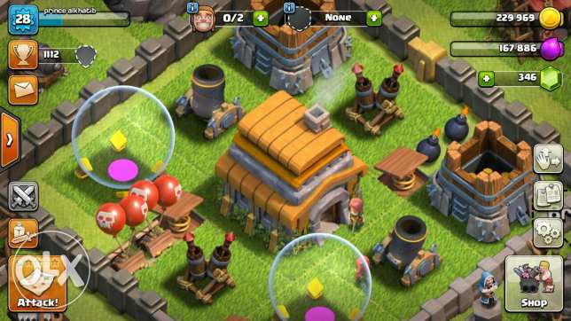 Clash of clans townhall level 6 for sale