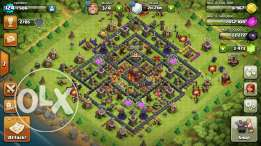Clash of clans village th10 in mid upgrades price negociable