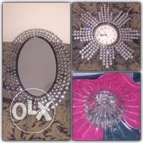 3pieces bcz of travel/ light & mirror & montre wall