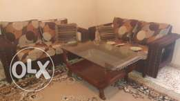 2 seater sofa set and table