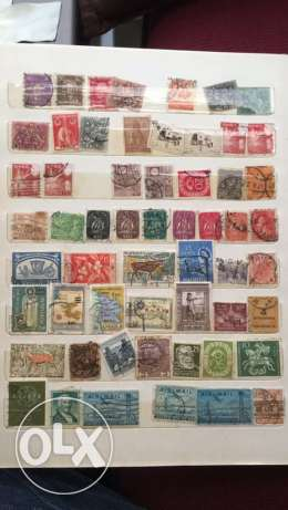 20 Pages of Old Stamps راس  بيروت -  3