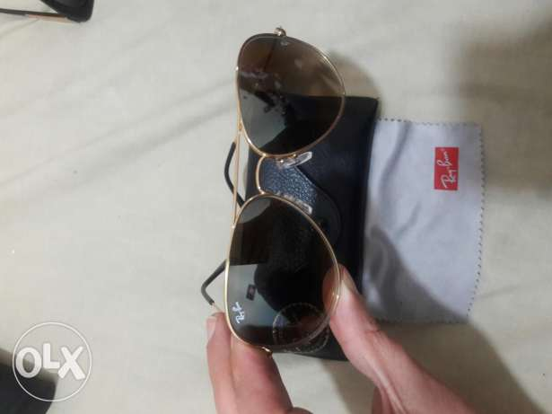 Ray ban gold brown used 3times