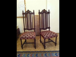 Two Baroque wooden chairs for sale