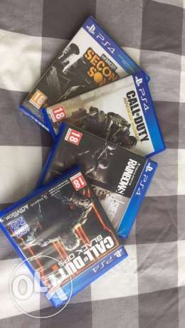 Black Ops 3, Advanced Warfare, Rainbow Six Siege and Infamous 2nd Son.