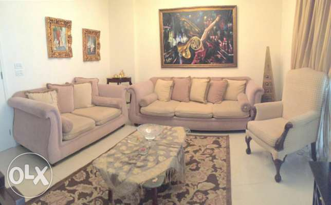 Salon 3 seaters sofa & 2 seaters & 1 bergere with coffee table