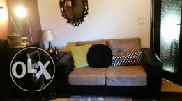 3 seated,2 seated and 1 seat black leather sofa and tv cabinet black color for sale