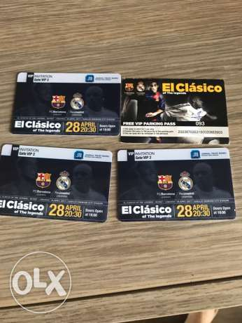 3 Match tickets FCB Real madrid legends classico
