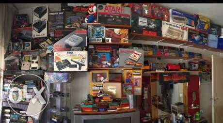 atari , sega , nintendo , and all kind of retro video games
