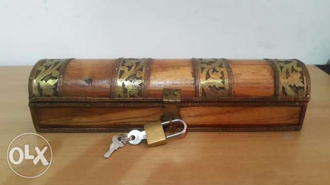 Classic Wooden Box with Lock