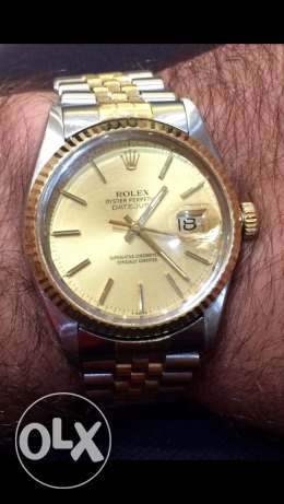 Rolex datejust 18k gold/steel