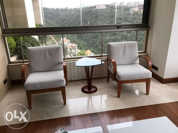 Twin Armchairs with Table المتن -  2