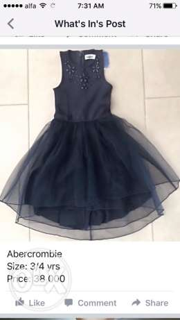 Abercrombie dress, size: 3/4 years